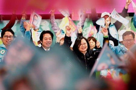 President Tsai Ing-wen of Taiwan and her running mate William Lai Ching-Te