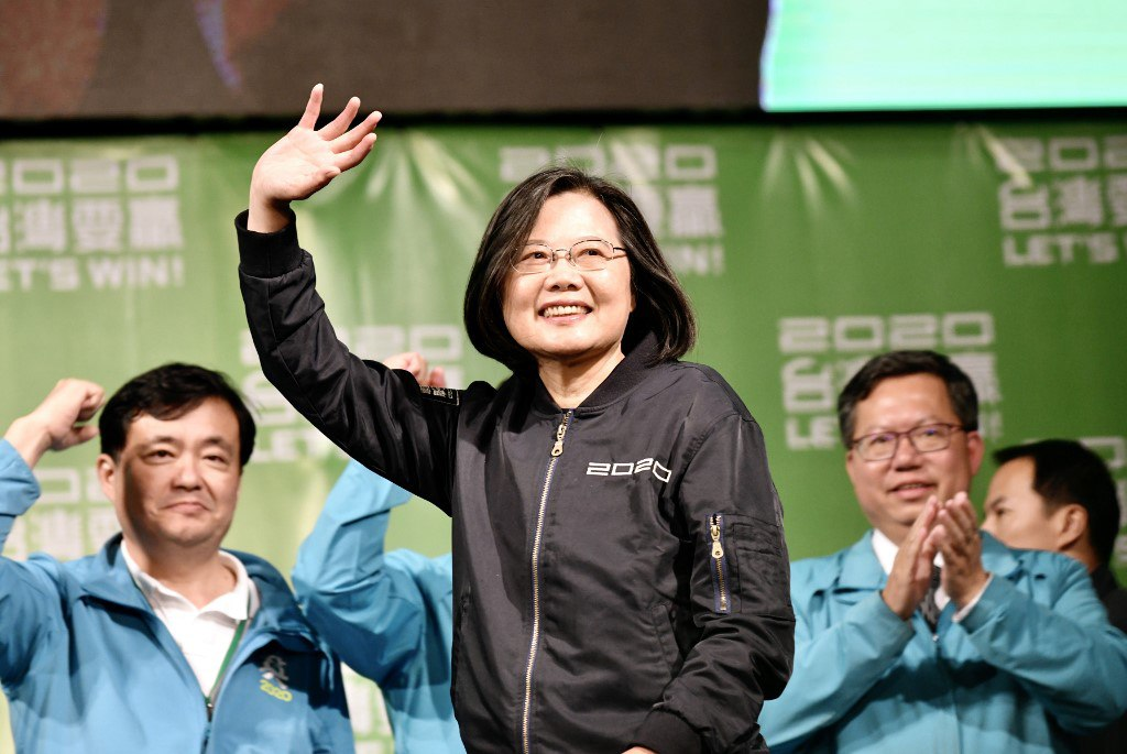 Taiwan's president elected to 2nd term as voters back tough stance against China
