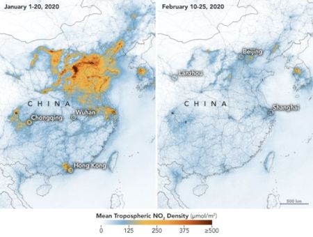 China Pollution Map