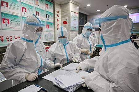 Chinese Doctors in HAZMAT Suits