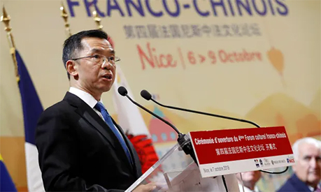 Chinese ambassador to France Lu Shaye