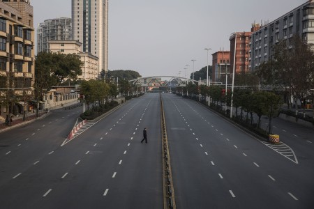 Empty Street in Chinese City