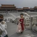 Outside Forbidden City in Beijing