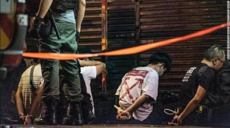 Riot Police Detain Hong Kong Protestors