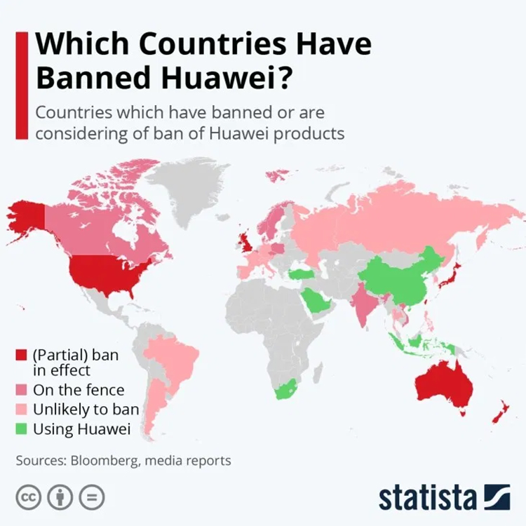 02 Countries That Have Banned Huawei