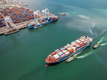 Cargo Ships in China