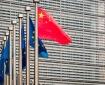 China and EU Flags