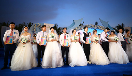 Couples at a Mass Wedding in China