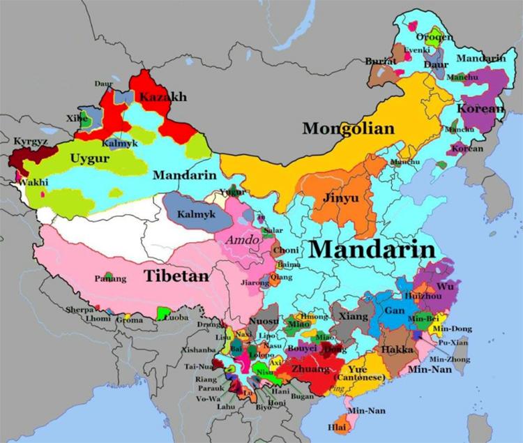 03 Language Map of China