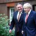 Boris Johnson and Mike Pompeo