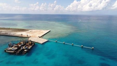 Newly Built Beach Ramp on Thitu Island