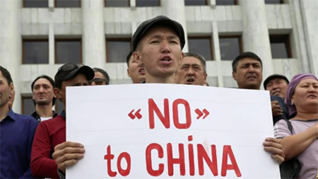 Protester in Bhutan