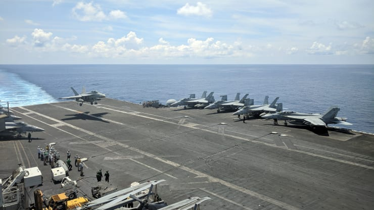 U.S. operations in the South China Sea show that Washington is 'not backing down'