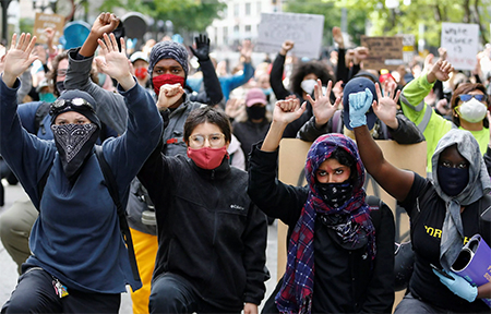 Antifacism Protestors