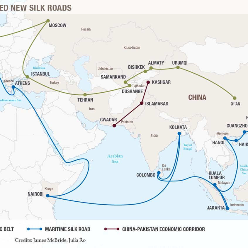 Planned New Silk Roads