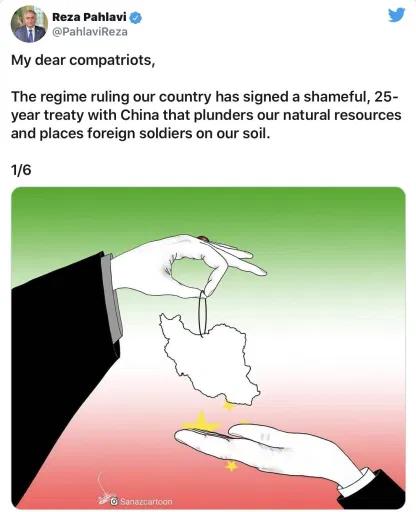 Reza Pahlavi Tweet