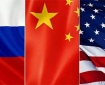 Russia China US Flags