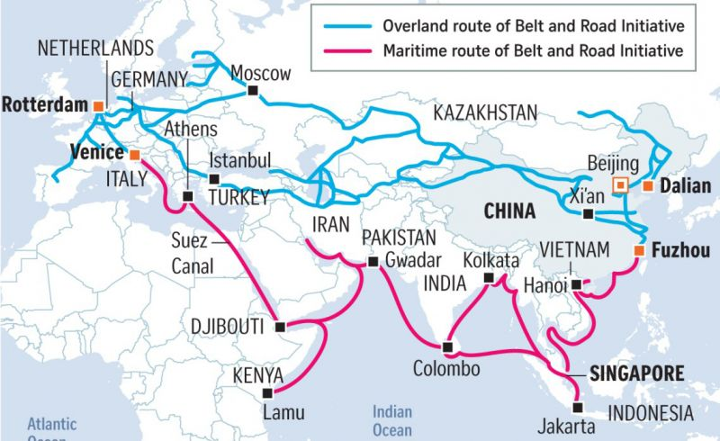 European logistics hubs of China's Belt and Road Initiative