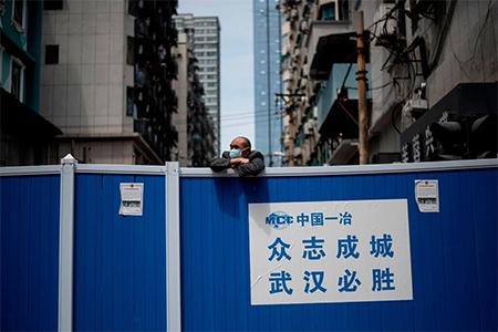 Barricade Around Community in Wuhan