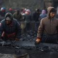 Workers Sorting Coal