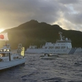 Chinese and Japanese ships sail near Senkaku Islands