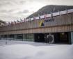 Exterior view of the congress center in Davos, Switzerland