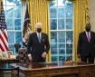 President Joe Biden stands with Secretary of Defense Lloyd Austin