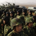 People's Liberation Army soldiers at Shenyang training base in China