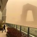 Beijing Skies Turn Orange