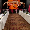 2021 March US-China meeting in Alaska (photo from CNN mixed with a picture of the famous Alaskan King Crab which is well known for long legs)