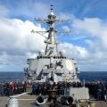 Guided-missile destroyer USS Russell
