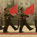 Members of a Chinese military honor guard