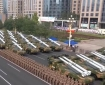 Chinese missile launchers in a military parade