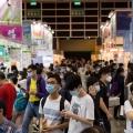 People visit the annual book fair in Hong Kong