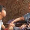 Li Haijian and her grandmother
