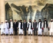 The Taliban delegation with Chinese Foreign Minister Wang Yi in Tianjin