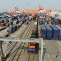 Qingbaijiang Railway Port from where freight trains travel between China and Europe as part of the Belt and Road Initiative
