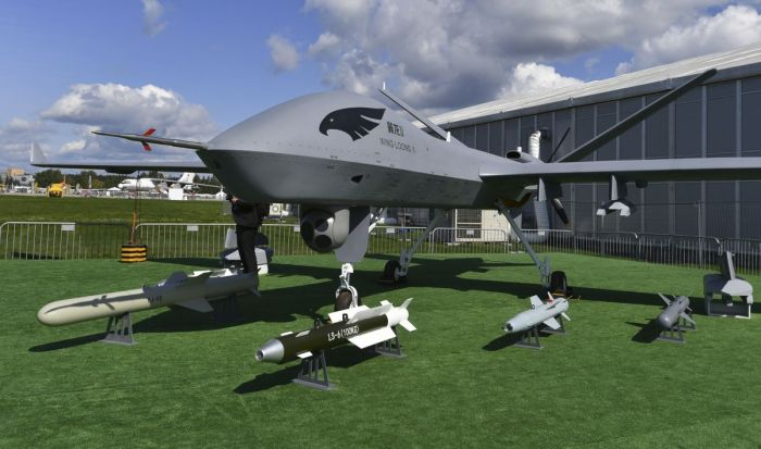 Chinese combat drones